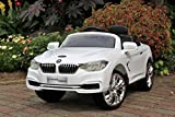 remote car motor - BMW 4-Series White - First Drive - 12v Kids Cars - Dual Motor Electric Power Ride On Car with Remote, MP3, Aux Cord, Led Headlights, and Premium Wheels