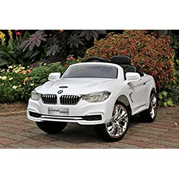 bmw 4 series white first drive 12v kids cars dual motor electric
