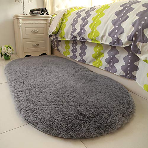 YOH Super Soft Area Rugs Silky Smooth Bedroom Mats for Living Room Kids Room Grey for Boys Room Home Decor Carpet 2.6'x5.3'(Grey)