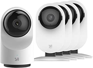 YI AI-Powered Indoor Security Camera Bundle Set, 2.4G Wi-Fi Smart Home Surveillance System with 24/7 Emergency Response, Human Detection, App - 1080P Home Camera 4pc and Dome Camera X