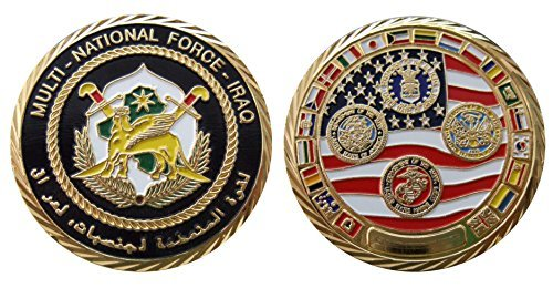 Multi-National Force - Iraq Challenge Coin / Logo Poker / Lucky Chip