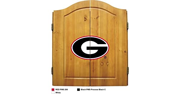 Amazon.com: Georgia Dart Board W/Bulldogs logotipo – Madera ...