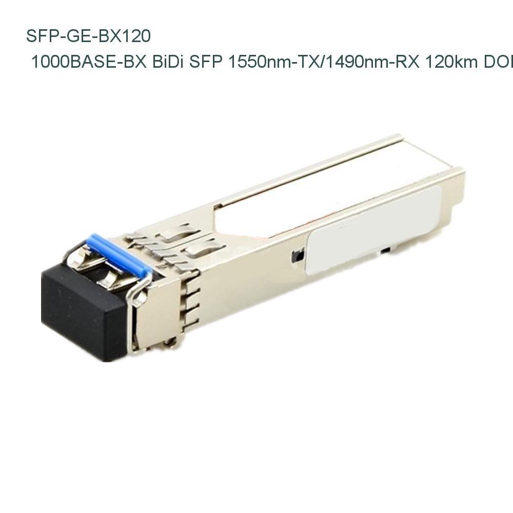Extreme Networks MGBIC-BX120-D Compatible 1000BASE-BX BiDi SFP 1550nm-TX/1490nm-RX 120km DOM Transceiver - NETCNA