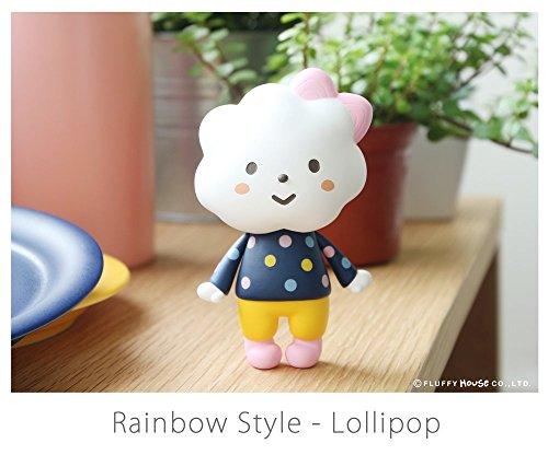 Rainbow Style Lollipop Edition Designer Vinyl Toy Figure By Fluffy House -