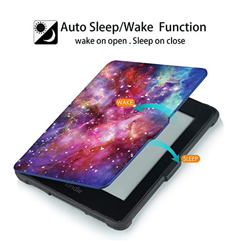 Case for Kindle Paperwhite -Premium Thinnest and Lightest PU Leather Cover with Auto Wake/Sleep for Amazon All-New Kindle Paperwhite (Fits 2012, 2013, 2015 Versions), Nebula Galaxy by Genetic. (Image #1)