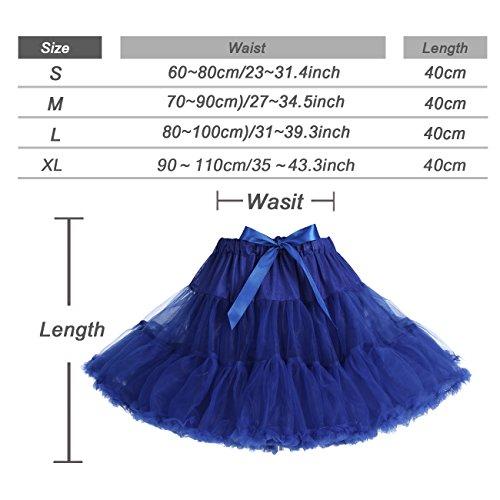 IVNIS RS90010 Women's Petticoat Tutu Skirt 2 Layered Ballet Dance Pettiskirt Mini Skirt Lavender S by IVNIS (Image #2)