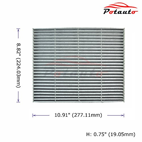 Well Wreapped Potauto Map C Heavy Activated Carbon Car Cabin Air Filter Replacement Compatible With