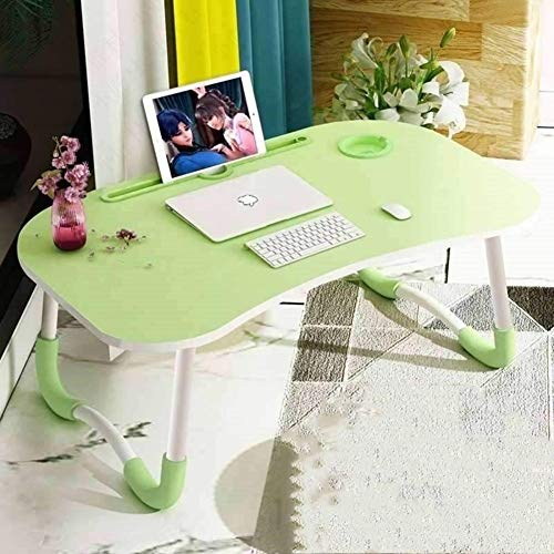 YQ WHJB Foldable Laptop Table,Portable Computer Table for Bed,Picnic Stand Breakfast Serving Tray with Metal Legs and MDF Top Board-c 60x40x28cm(24x16x11inch)