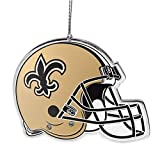 NFL New Orleans Saints Flat Metal Helmet Ornament