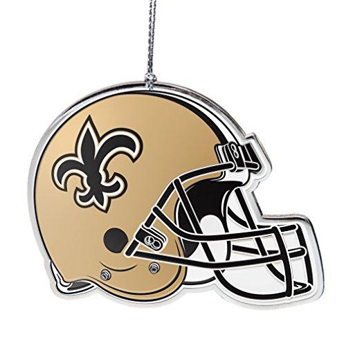 - NFL New Orleans Saints Flat Metal Helmet Ornament
