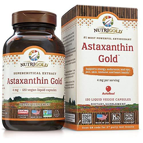 NutriGold Astaxanthin 4mg 120 Vegan Liquid Capsules