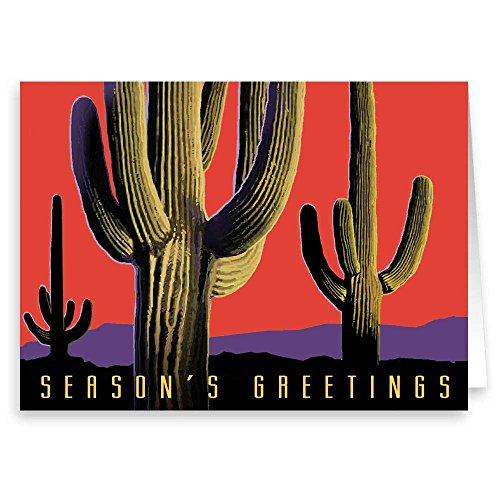 Beautiful Saguaro Cactus Holiday Card 18 Cards and ()