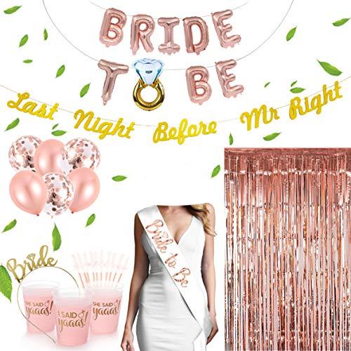 Premium Bachelorette Party Decorations Kit With PARTY CUPS & BONUS BANNER! ()