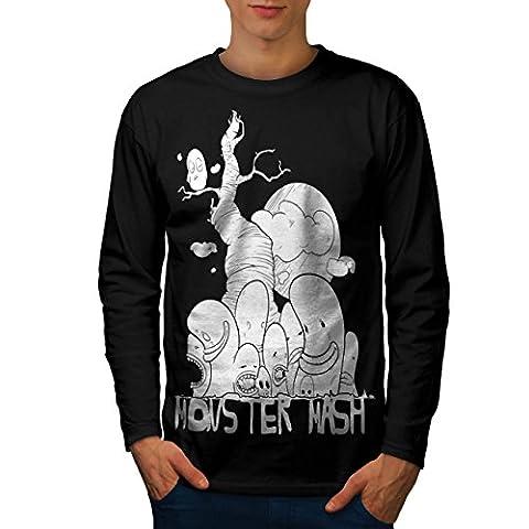 Cute Monster Mash Men NEW S Long Sleeve T-shirt   Wellcoda (The Monster Mash Pixie)