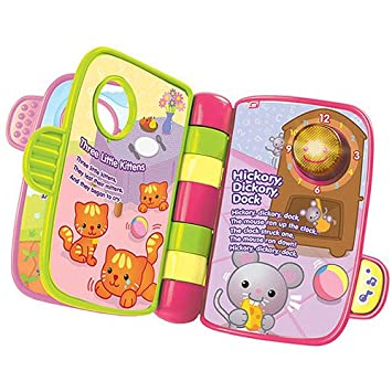 Amazoncom Vtech Storytime Rhymes Book Pink Baby Toys Baby
