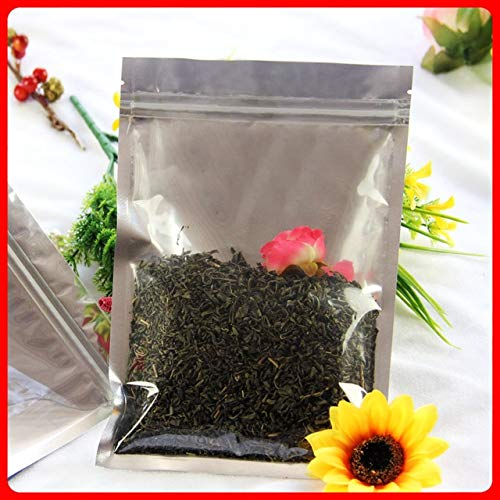 BeesClover 100pcs/lot 14cm20cm160mic Half Clear + VMPET Plastic Food Packaging Bags Retail Plastic Gift Bags Show