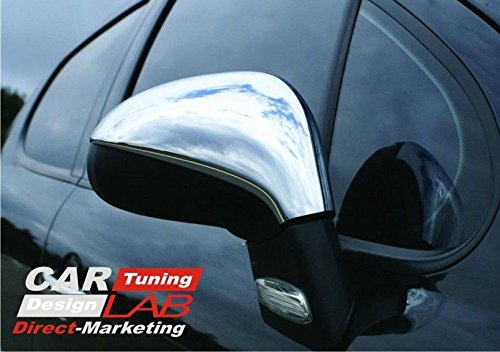 (2) Nickel Chrome Side Wing Mirror Covers Caps Overlays For 207 207cc CarLab