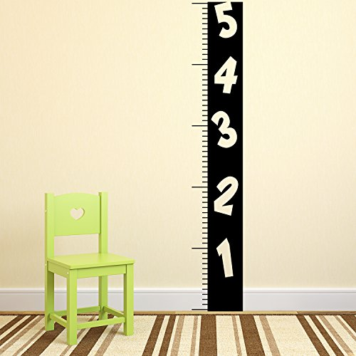 ll Art Decal - Ruler Numbers Growth Chart - 60.5