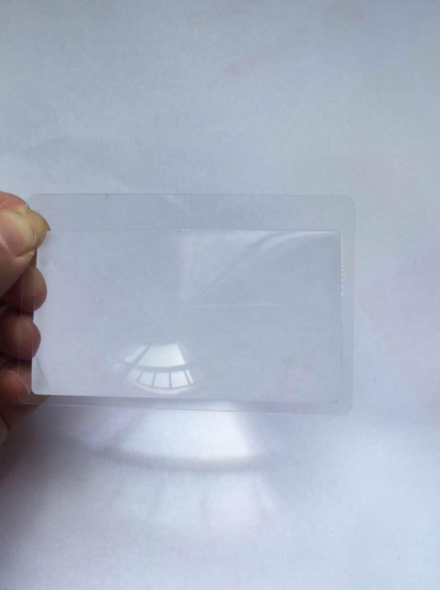 ZXUY 3pcs Credit Card Size Pocket Magnifier Fresnel Magnifying Lens