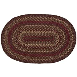 "IHF Rugs Cinnamon Oval Braided Rug - 20""x30"""