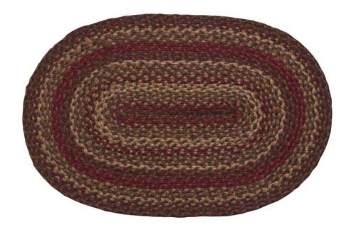 Country Braided Rugs (Cinnamon Oval Braided Rug - 20