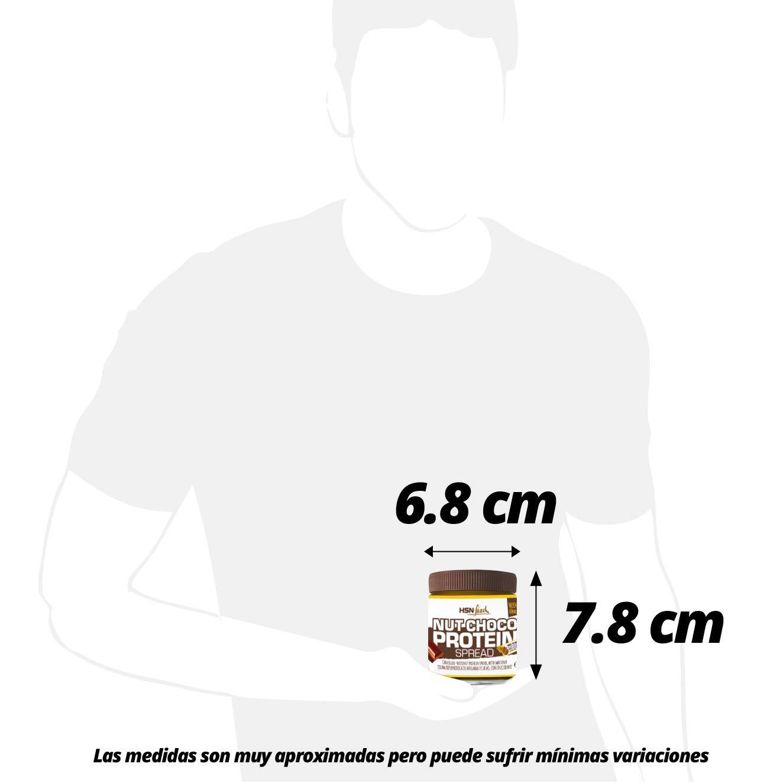 Crema Hiperproteica de Cacao y Avellanas de HSN Foods - NutChoco con Whey Protein - Baja en azúcar, Sin Aceite de Palma, Sin Gluten, Apto Vegetarianos ...