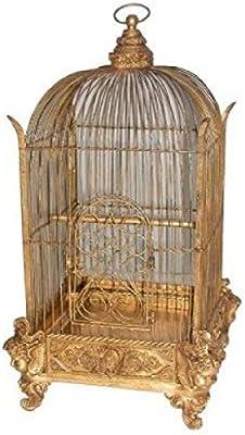 Pájaro jaula Jardín de invierno Oro 90 cm para exterior de ...