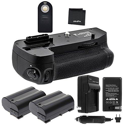 Battery Grip Bundle F/Nikon D7000: Includes MB-D11 Replacement Grip, 2-Pk EN-EL15 Long-Life Batteries, Charger, UltraPro Accessory Bundle (Nikon D7000 Battery Grip)