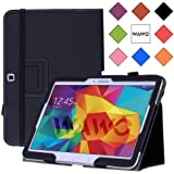 WAWO Samsung Galaxy Tab 4 10.1 Inch Tablet Smart Cover Creative Folio Case (Black)