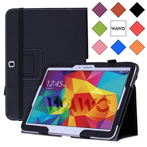 WAWO Samsung Galaxy Tab 4 10.1 Inch Tablet Smart Cover Creative Folio Case (Black) (Galaxy 4g Lte Tablet)