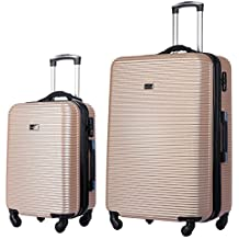 HyBrid Travel 2 PC Luggage Set Lightweight Hard Case Self Weighting Scale Suitecase 20in29in