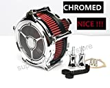 Chrome air filter harley Touring street glide road king electra harley air cleaner Dyna Breakout softail fatboy 2001-2007