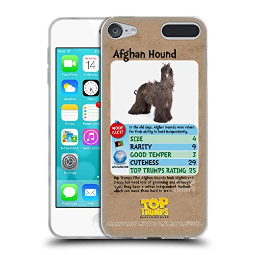 Official Top Trumps Afghan Hound Dogs 2 Soft Gel Case for Apple iPod Touch 6G 6th Gen