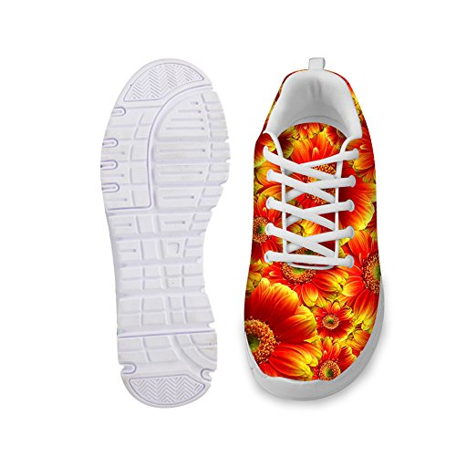 Hugs Idea Florals Womens Fashion Sneakers Leggero Scarpe Da Corsa Floreali 6