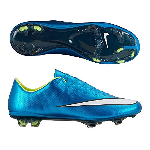 Nike Womens Mercurial Vapor X FG Soccer Shoes (Blue Lagoon) 9.5