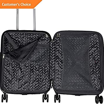 Amazon.com | Sandover Gabbiano Luca 3 Piece Expandable Hardside Spinner gage Set NEW | Model LGGG - 1813 | | Luggage Sets