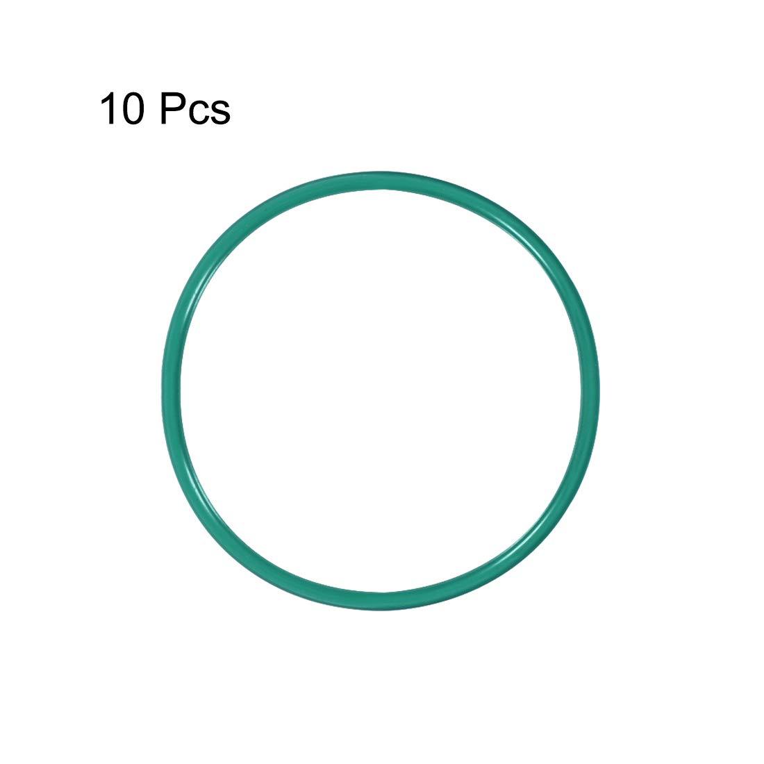 Seal Gasket Green 10Pcs 20.2mm Inner Diameter 1.9mm Width uxcell Fluorine Rubber O Rings 24mm OD