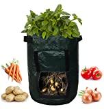 Garden Planter Bag (2-pack) – Grow Vegetables: Potato, Carrot, Tomato, & Onion - Plant Tub with Access Flap for Harvesting - Eco-Friendly - Heavy Duty & Durable Bags