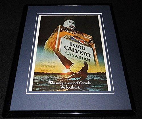 Whiskey Advertisement - 1979 Lord Calvert Canadian Whiskey Framed 11x14 ORIGINAL Vintage Advertisement