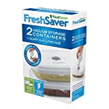 FoodSaver 0.5-Quart Vacuum Storage Deli Containers, 2-Pack