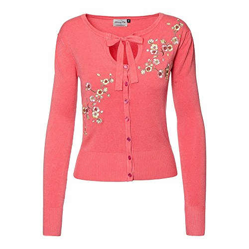 Cárdigan de Banned modelo Last Dance (Negro) Rosa coral