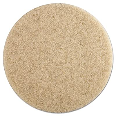 "Premiere Pads PAD 4019 NHE Ultra High Speed Natural Hair Ebytra Floor Pad, 19"" Diameter (Case of 5)"