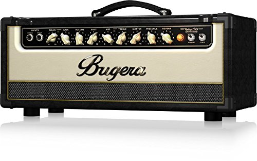 Tube Guitar Amplifier 22w - BUGERA V22HD 22-Watt Vintage 2-Channel Amplifier Head with Infinium Tube Life Multiplier and Reverb Brown & Cream (V22HDINFINIUM