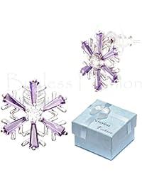 Hypoallergenic Surgical Steel Christmas Snowflake Stud Earrings