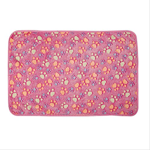 Topshop Warm Pet Mat Small Large Paw Print Cat Dog Puppy Fleece Soft Blanket Bed Cushion (XS:7.97.9