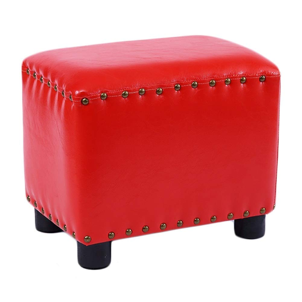 E 37x24.5x30cm Footstool Household Simple Solid Wood Multifunction Sofa Stool Change shoes Bench GMING (color   D, Size   37x24.5x30cm)