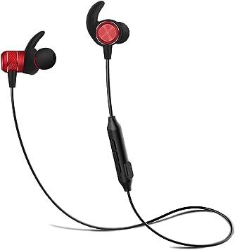Auriculares Bluetooth deporte, Borofone BE5 Inálambrico Auricular con Imán Magnético, APTX y manos libres Mic incorporado, Calificación IPX4 A Prueba