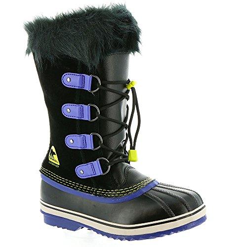 Sorel Youth Joan Of Arctic Boot Black / Purple Arrow 4 by SOREL