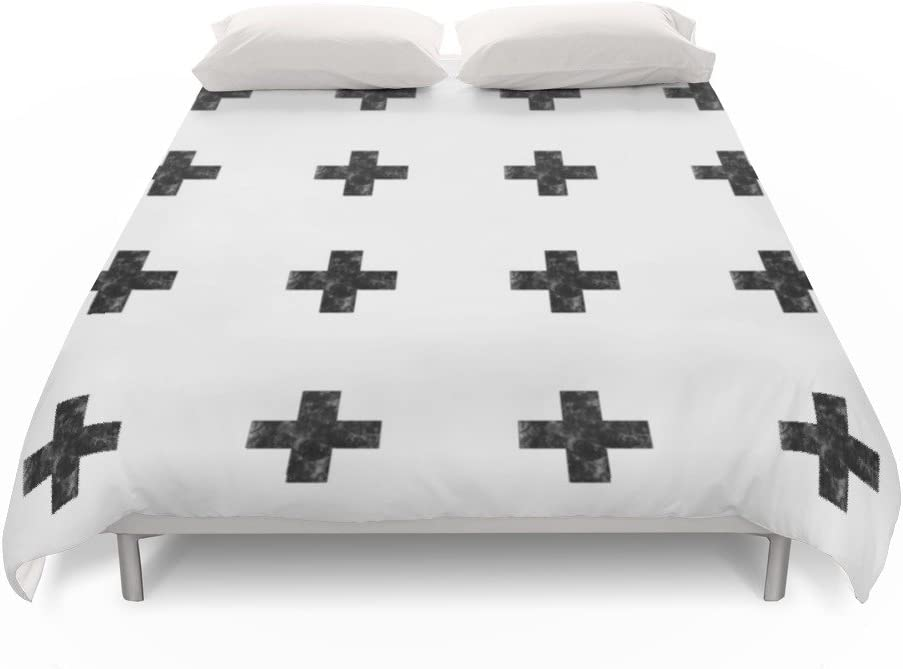 Society6 Watercolor Swiss Cross White Duvet Covers King 104 X 88 Skye Zambrana Amazon Co Uk Kitchen Home