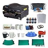 3d Sublimation Vacuum Machine Mug Printer Ciss Paper Business Bundle
